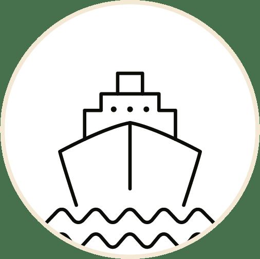 Getransporteerd per schip en in 'groene opslag' geplaatst